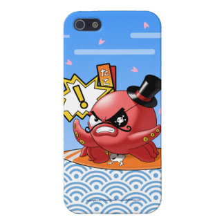 Cute Octopus Villain with Mustache and Eye Patch Cover For iPhone SE/5/5s