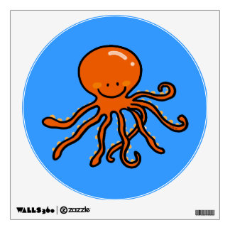 cute octopus wall decal