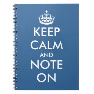 Cute office supplies | Keepcalm writing notepads Spiral Notebook