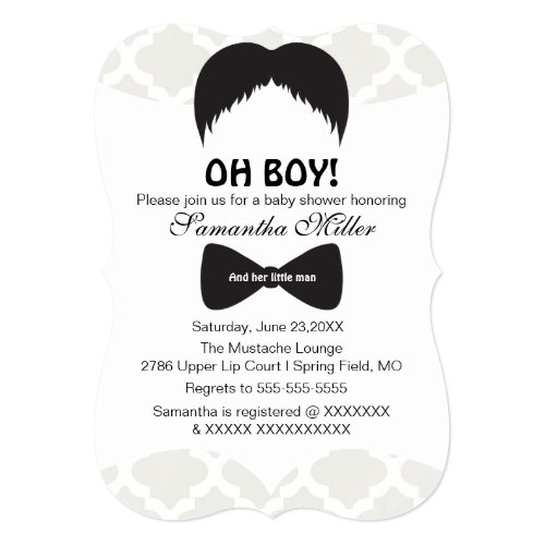 Popular 25 mustache and bow tie baby shower invitations popular cute oh boy mustache baby shower invitation filmwisefo