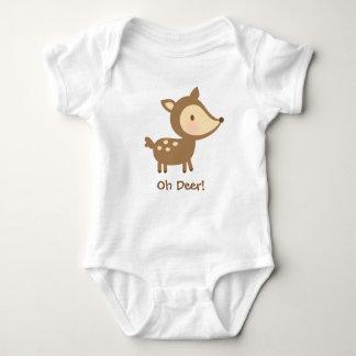 Cute Oh Deer Pun Humor For Babies Baby Bodysuit