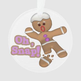 cute oh, snap gingerbread man cookie