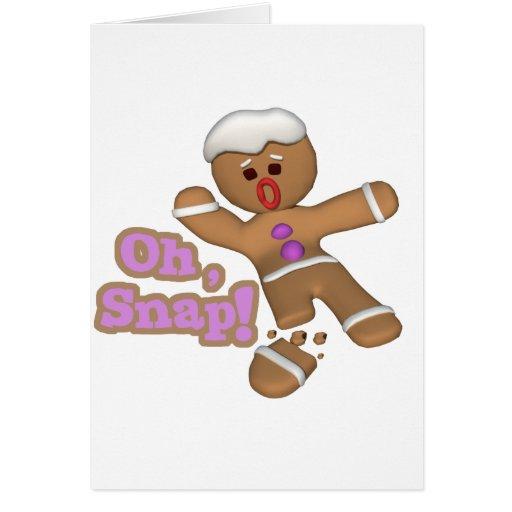 cute oh, snap gingerbread man cookie card