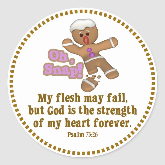 cute oh, snap gingerbread man cookie classic round sticker