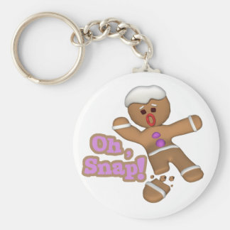 cute oh, snap gingerbread man cookie keychain
