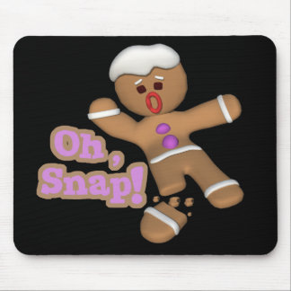 cute oh, snap gingerbread man cookie mouse pad