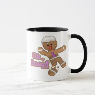 cute oh, snap gingerbread man cookie mug