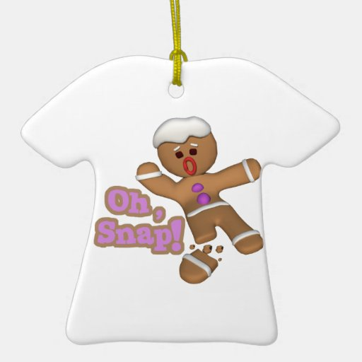 cute oh, snap gingerbread man cookie christmas ornament