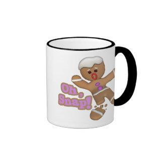 cute oh, snap gingerbread man cookie ringer mug