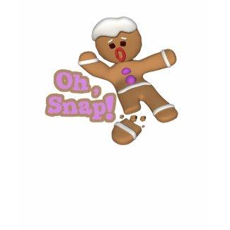 cute oh, snap gingerbread man cookie shirt
