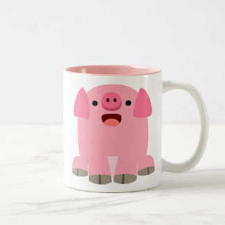 Cute Oinking Cartoon Pig Mug