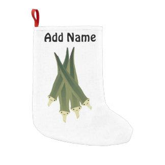Cute Okra Small Christmas Stocking
