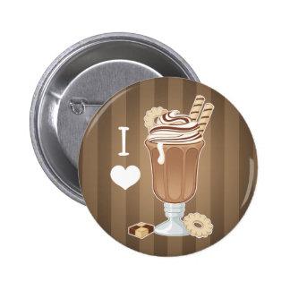 Cute old fashioned chocolate milkshake pins