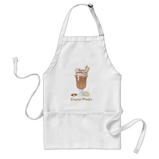 Cute old fashioned chocolate milkshake design adult apron