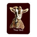 Cute Old Goat, Farm Animal Humor Rectangular Photo Magnet