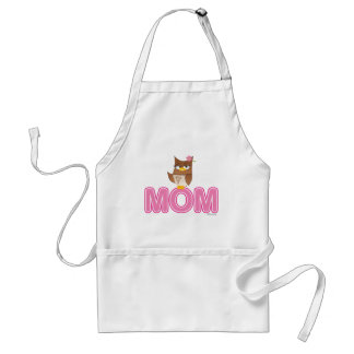 Cute Olivia VonHoot Cartoon Character for Mom - Adult Apron