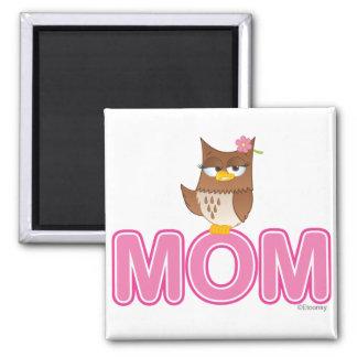 Cute Olivia VonHoot Cartoon for Mom 2 Inch Square Magnet