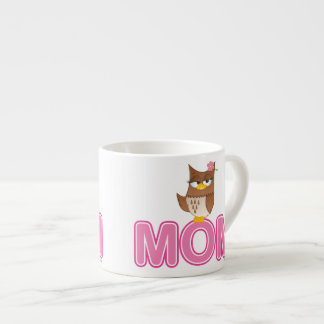 Cute Olivia VonHoot Cartoon for Mom Espresso Cup