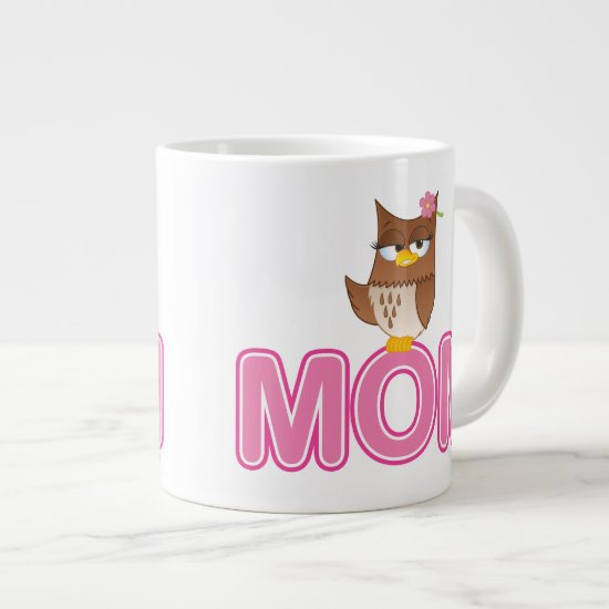 Cute Olivia VonHoot Cartoon for Mom Large Coffee Mug