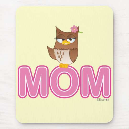 Cute Olivia VonHoot Cartoon for Mom Mouse Pad