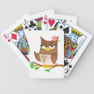 Cute Olivia VonHoot Playing Cards