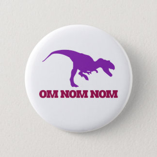 Cute Omnom Dinosaur Button