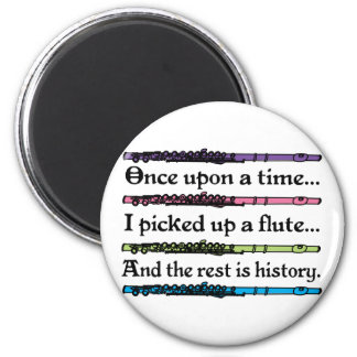 Cute Once Upon A Time Flute 2 Inch Round Magnet