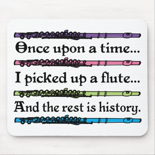 Cute Once Upon A Time Flute Mouse Pad