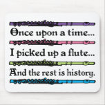 Cute Once Upon A Time Flute Mouse Pads