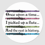 Cute Once Upon A Time Flute Stickers