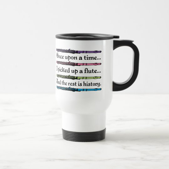 Cute Once Upon A Time Flute Travel Mug