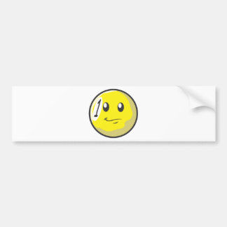 Cute One 1 Ball Billiard Cartoon Bumper Sticker
