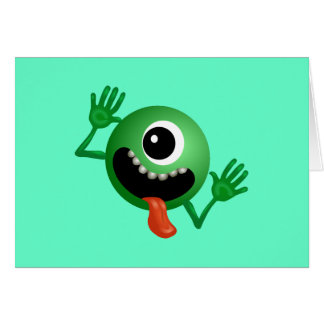 Cute One Eyed Monster Card
