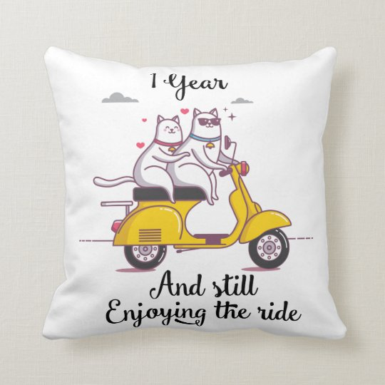 Cute One Year Anniversary Gift For Him Amp Her Throw Pillow