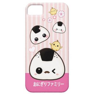 Cute onigiri family and kawaii chicks iPhone 5 covers