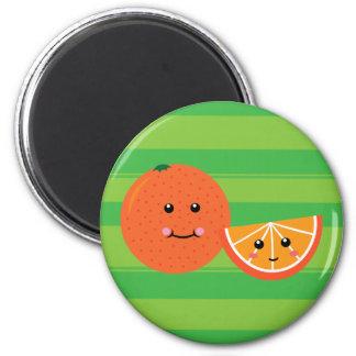 Cute Orange 2 Inch Round Magnet