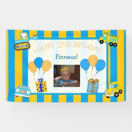 Photo Birthday Personalized Banner