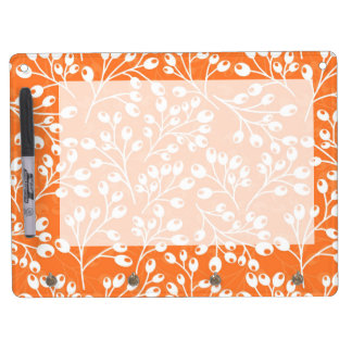 Cute orange and white autumn berries dry erase board with keychain holder