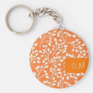 Cute orange and white autumn berries keychain