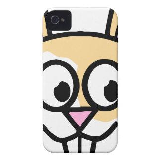 Cute Orange and White Bunny Rabbit iPhone 4 Case