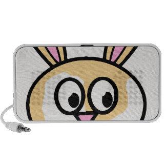 Cute Orange and White Bunny Rabbit Portable Speaker