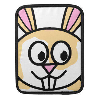 Cute Orange and White Bunny Rabbit Sleeve For iPads