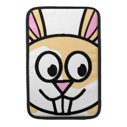 Cute Orange and White Bunny Rabbit Sleeve For MacBook Air