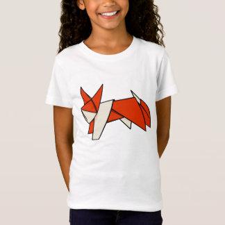 Cute Orange and White Origami Fox T-Shirt