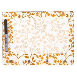 Cute orange autumn berries dry erase board with keychain holder