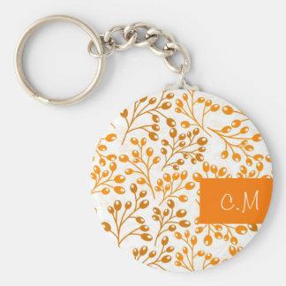 Cute orange autumn berries keychain