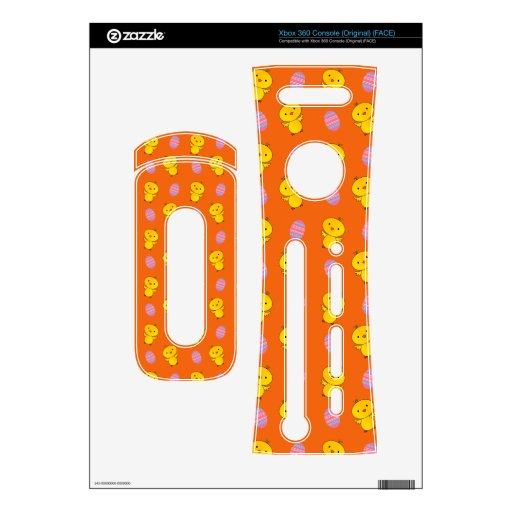 Cute orange baby chick easter pattern skins for the xbox 360