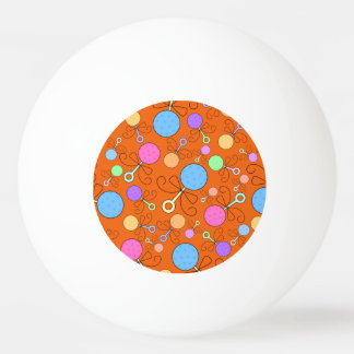 Cute orange baby rattle pattern Ping-Pong ball