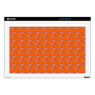 "Cute orange bacon pattern decal for 17"" laptop"