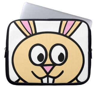 Cute Orange Bunny Rabbit Computer Sleeve